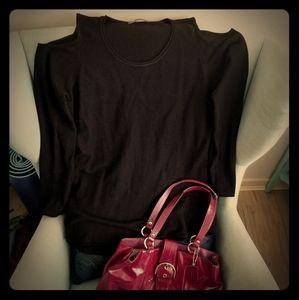 Sweaters - Black Cold-shoulder Top, sz M